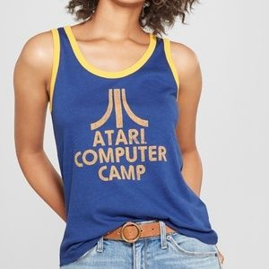 Junk Food Women's Atari Computer Camp Ringer Graph